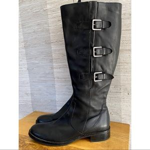 ECCO Size 41 Women's Black Hobart Riding Boot